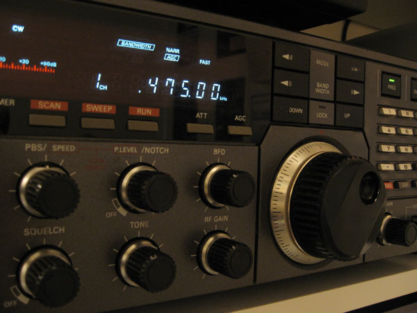 JRC NRD-525 receiver, covering HF, MF and LF, at ZL1ZLD