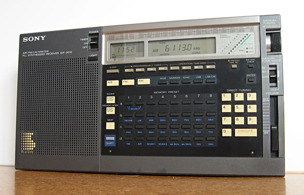 Sony ICF-2010 shortwave receiver