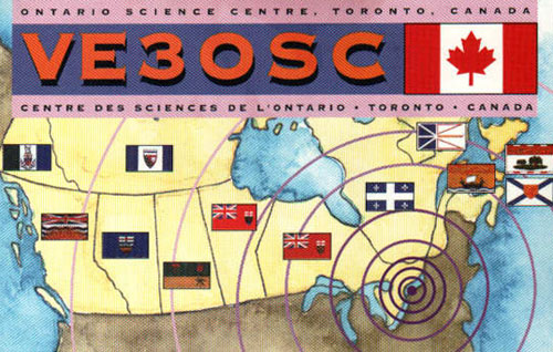 A QSL card from aeur radio station VE3OSC Toronto, date unknown.