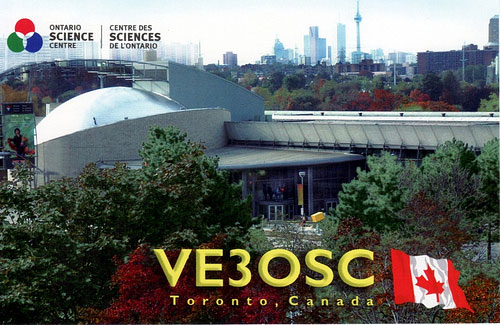 A 2009 QSL card from amateur radio station VE3OSC Toronto.