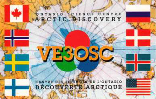 Special 'Arctic Discovery' QSL card from amateur radio station VE3OSC Toronto, date unknown