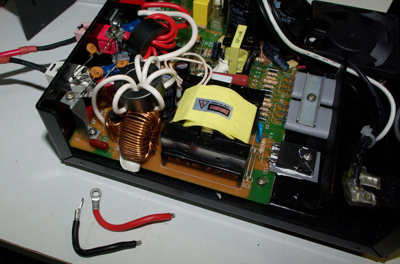 Noise reduction in a Samlex power supply