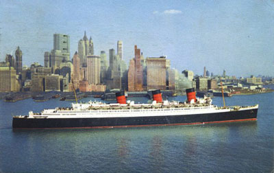 RMS Queen Mary in New York, 1961