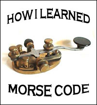 Logo for How I Learned Morse Code series
