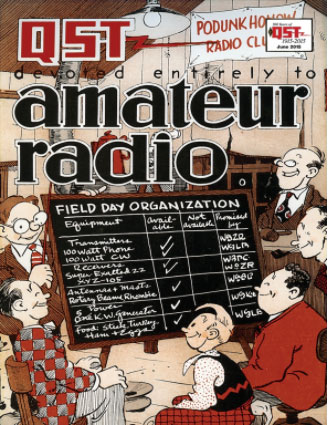 1930s QST cover - field day planning cartoon