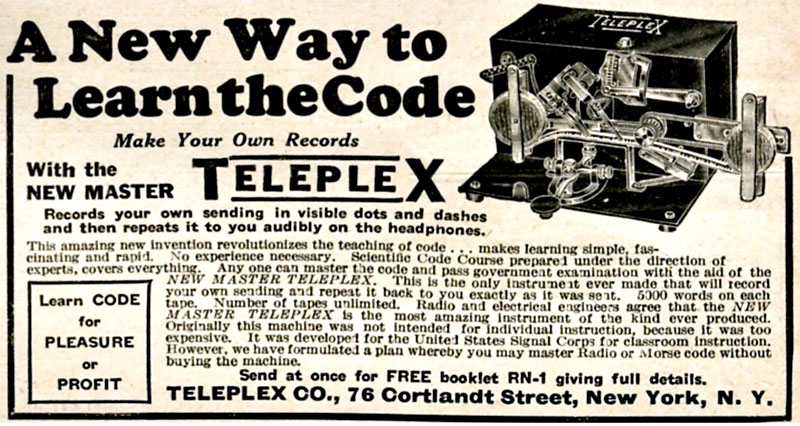 Teleplex code learning system advert