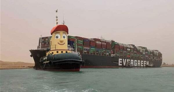 Theodore Tugboat rescues Ever Given