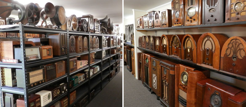Just part of the collection at the Wanganui Vintage Radio Museum