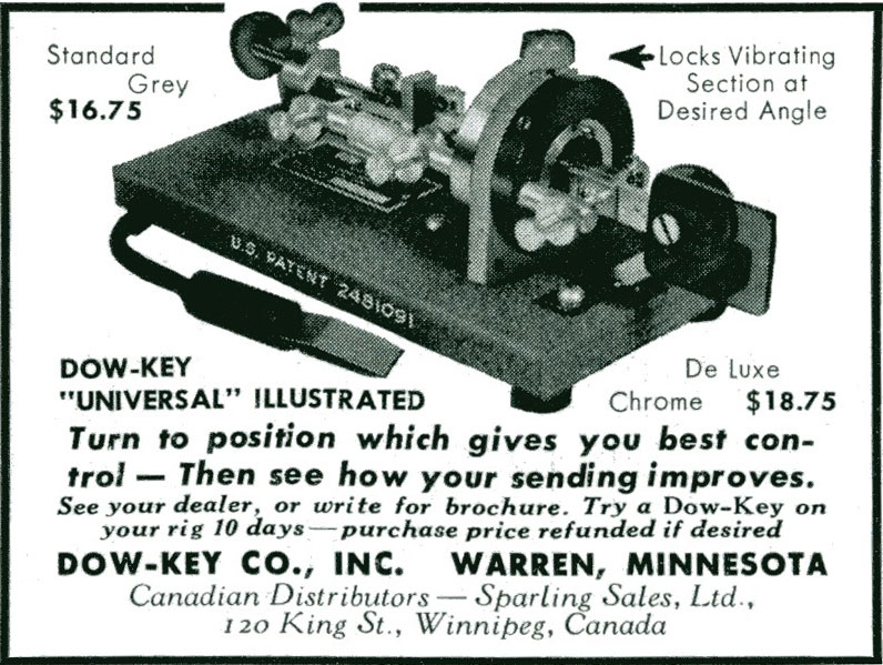 1952 advertisement for Dow-Key bug