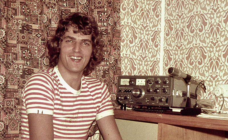 Paul ZL1AJY with TS-520 in 1976