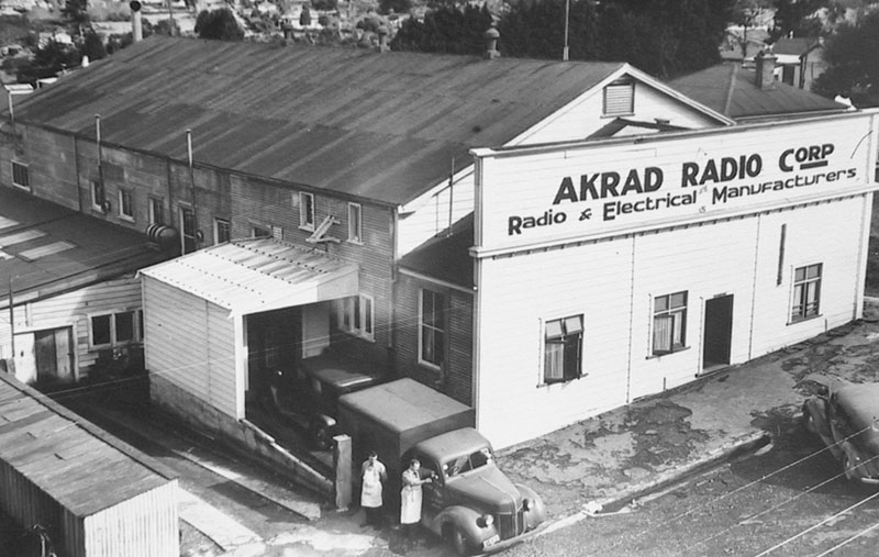 Akrad factory building in the 1940s